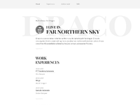 01 draco free psd html resume template