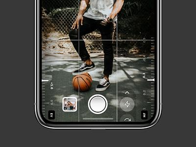 Light Manual Camera App shutter viewfinder dslr flat skeumorphism camera app camera minimal mobile app concept