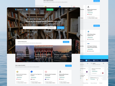 Beasiswakita - Landing Page header imagery card landing page design landing page application concept web design minimal flat