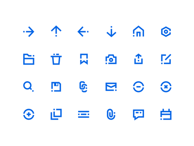 Blocky Icons navigation utilities general system vector freebie png svg iconset icon free
