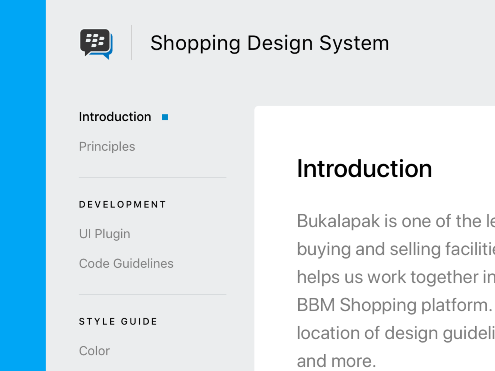 Introduction Page Bbm Shopping Style Guide By Afnizar Nur Ghifari For Bukalapak Design On Dribbble