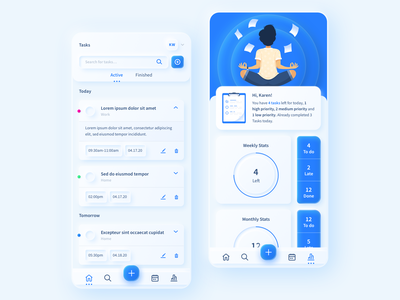 To Do App Neumorphic to do person dashboad app tasks list manager task blue neumorphism neumorphic website ux vector illustration ui sketch web inspiration design