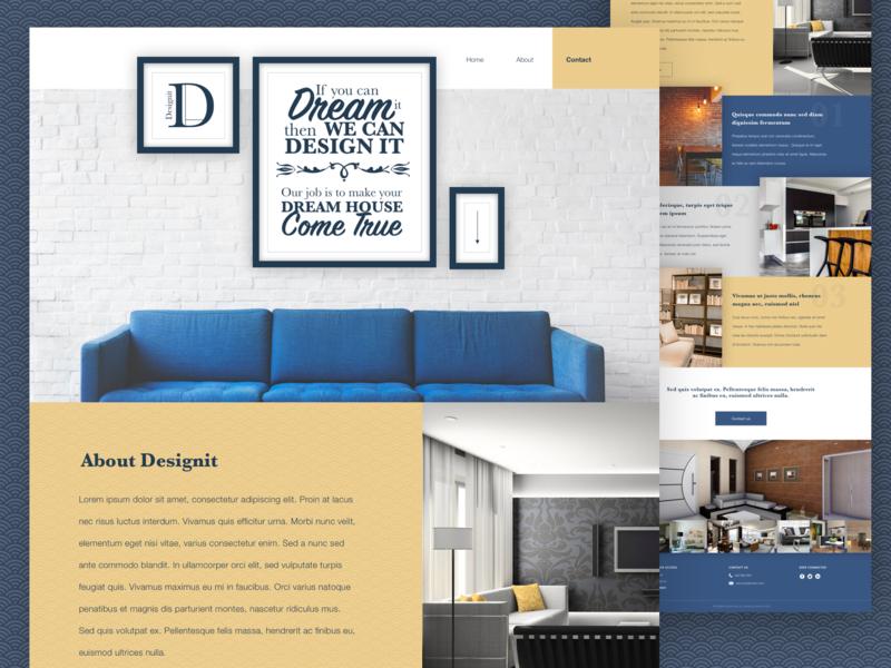 Interior Design Website By Karin On Dribbble