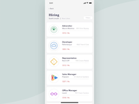 Job finding app design