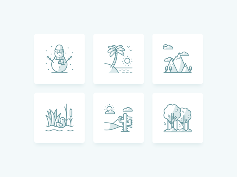 Camping Areas green icons campgrounds camping camp outlines outline flat vector illustration sketch modern ui web inspiration design