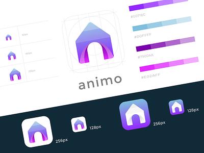 Animo Launcher App Icon app icon branding logo adobe illustrator icon android app icon clean modern colorful