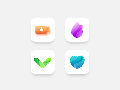 Icon exploreation app icon clean icon modern colorful