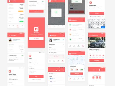 Car Rental App ui design red app andoid clean modern car rental ui design uiux