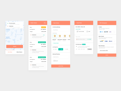 Delivery App app android simple orange adobe xd delivery clean ux
