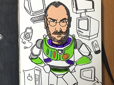 My hero illustration mac apple lightyear buzz jobs steve