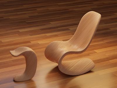 Custom designed chair modeling modern design custom chair 3d blender3d modeling blender