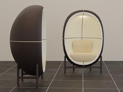 Capsule Chair modeling office creative chair design custom chair capsule