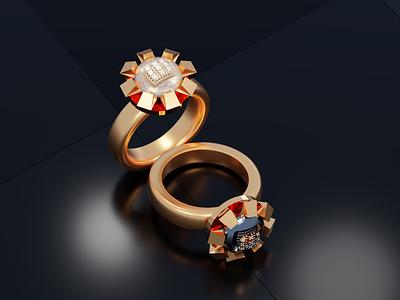 3D Ring Design mistry jewelry design 3d modeling gold design orgenal jewelery ring blender