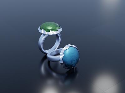 3D ring stone ring stone ring jewelry modelling 3d texture blender3d orginal 3d modeling blender design