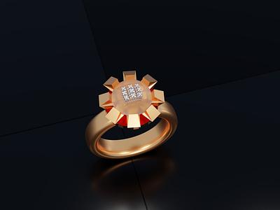 3D ring design jewelry amazing 3d texture 3d ring blender 3d modeling design