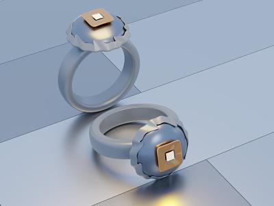3D Ring branding ring jewelry 3d modeling 3d texture 3d blender design