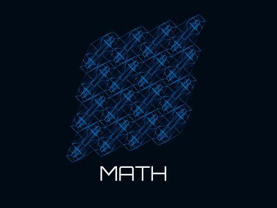 4d cube pattern math background design illustration illustrator pattern cube 4d