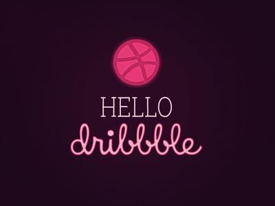 HELLO Dribbble dribbble design
