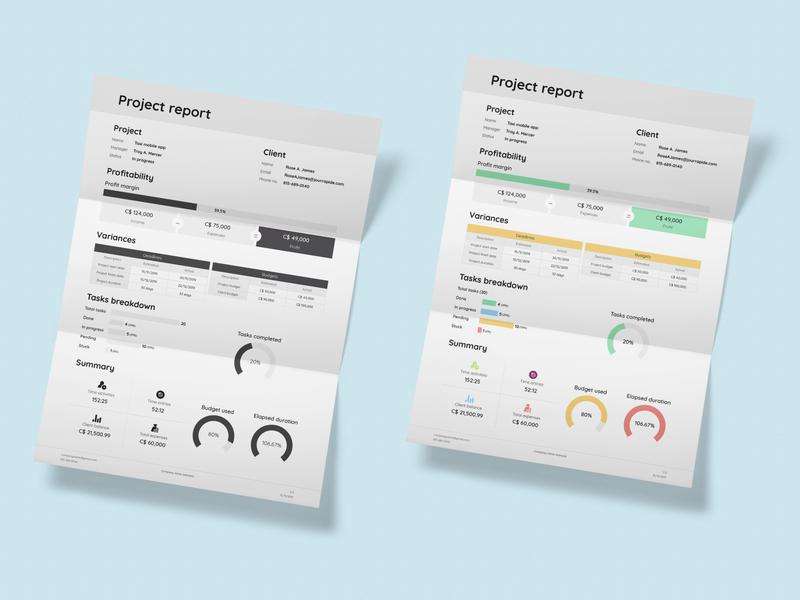 Project status report print design letterhead design report letter