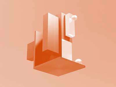 Architectural 3D design website header vector design 3d background illustration blender 3d modeling