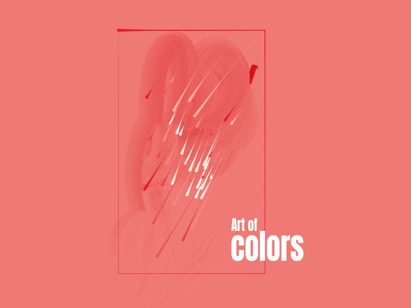 Art of colors book cover brush colors background illustration design