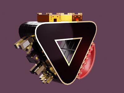 Triangle city artwork art architecture design ideas graphic  design 3d modelling 3d model 3d