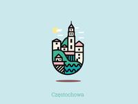 Czestochowa - city badge
