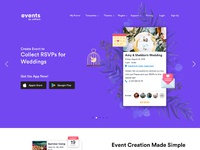 Events mobile app landing page 2