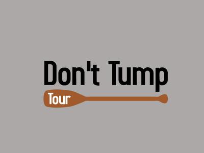 Dont Tump Tour icon flat app logo branding cover website web vector lettering typography illustrator illustration facebook animation @typography @logo @fiverr @design design