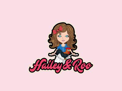 Hailey   Roo icon flat app logo branding cover website web vector typography illustrator illustration facebook animation lettering @typography @logo @fiverr @design design