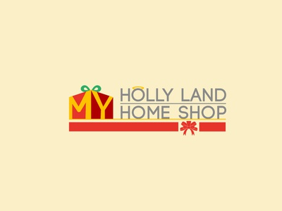 Holly Land Home Shop icon flat app logo branding cover website web vector lettering typography illustrator illustration facebook animation @typography @logo @fiverr @design design