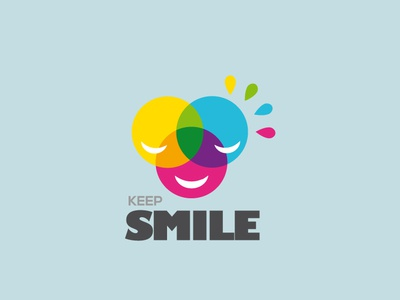 Keep Smile icon flat app logo cover branding website web vector lettering typography illustrator illustration facebook animation @typography @logo @fiverr @design design