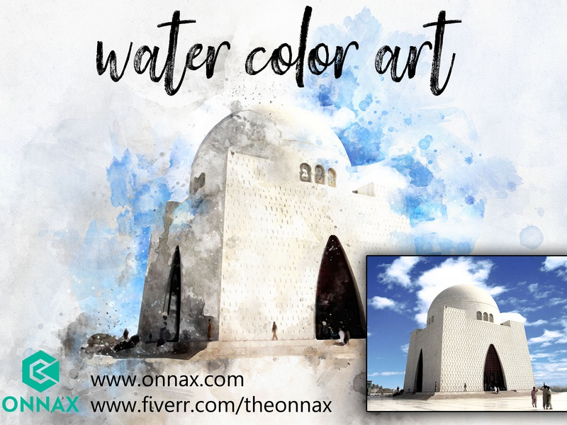 Water Color Art icon flat app logo cover branding website web vector lettering typography illustrator illustration facebook animation @typography @logo @fiverr @design design
