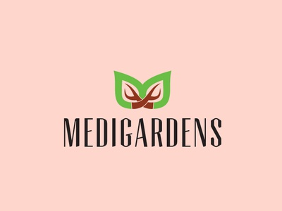 Medigardens icon flat app logo cover branding web website vector lettering typography illustrator illustration facebook animation @typography @logo @fiverr @design design