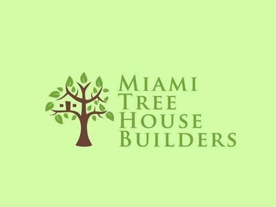 Miami Tree House Builders icon flat app logo cover branding website web vector lettering typography illustrator illustration facebook animation @typography @logo @fiverr @design design
