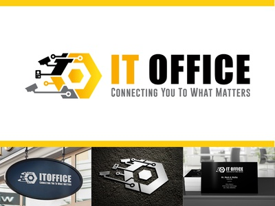 It Office - Connecting You To What Matters @fiverr icon vector illustration @design branding logo illustrator @typography @logo design