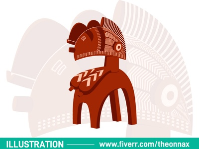 Illustration icon ui @fiverr @design vector logo illustration illustrator design