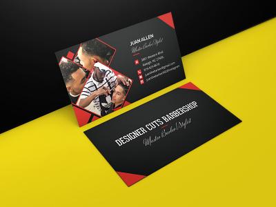 Designer Cuts Barbershop - Business Card design fiverr upwork business card logo vector @fiverr