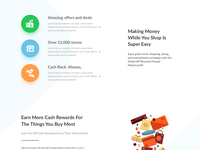Online Cash Back Landing Page