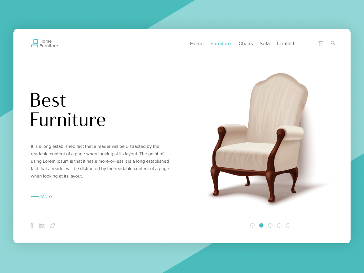 Home Decor Design (Figma) sketch figma homepage decoration home decor clean ui furniture chairs furniture store design interface icons portfolio customer portal clean theme ux flat web ui