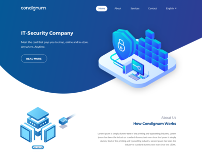 Landing page for IT-Security Company