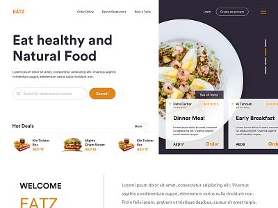 Eatz (Order Online Food) deliver buy product design platform menu ecommerce cart customer portal clean interface web ui admin dashboad food order online