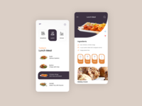 Food App ( Lunch Meal ) order food order onile mobile application kitchen cooking food interface clean theme dashboard ux flat ui web mobile design ios android app mobile app mobile ui admin