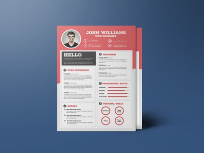 Free Red Resume Template