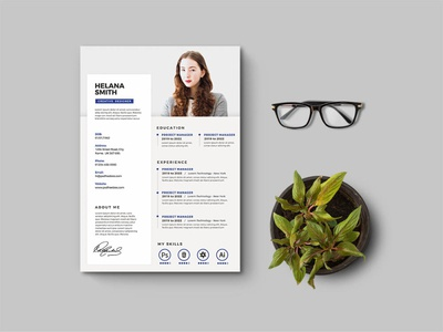 Free Clean and Fresh Resume Template for Any Jobs Opportunity