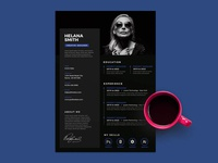 Free Black Stylish Resume Template