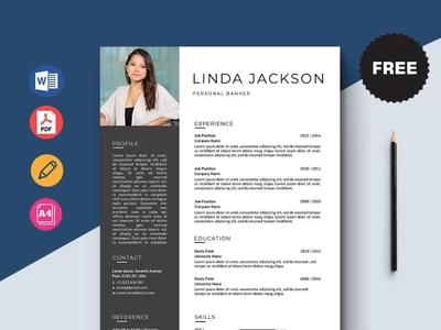 Free Personal Banker Resume Template design free cv cv template freebie curriculum vitae cv free cv template resume freebies free resume template