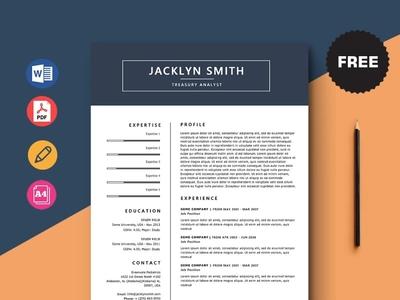 Free Treasury Analyst Resume Template design free cv cv template freebie curriculum vitae resume free cv template cv freebies free resume template