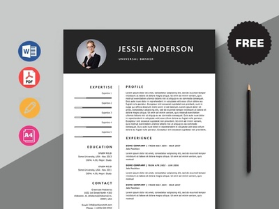 Free Universal Banker Resume Template design free cv cv template freebie resume cv freebies curriculum vitae free cv template free resume template