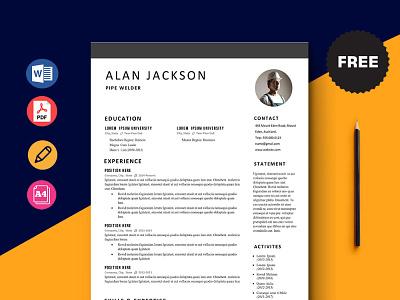 Free Pipe Welder Resume Template cv template freebie curriculum vitae free cv template free resume template freebies cv resume